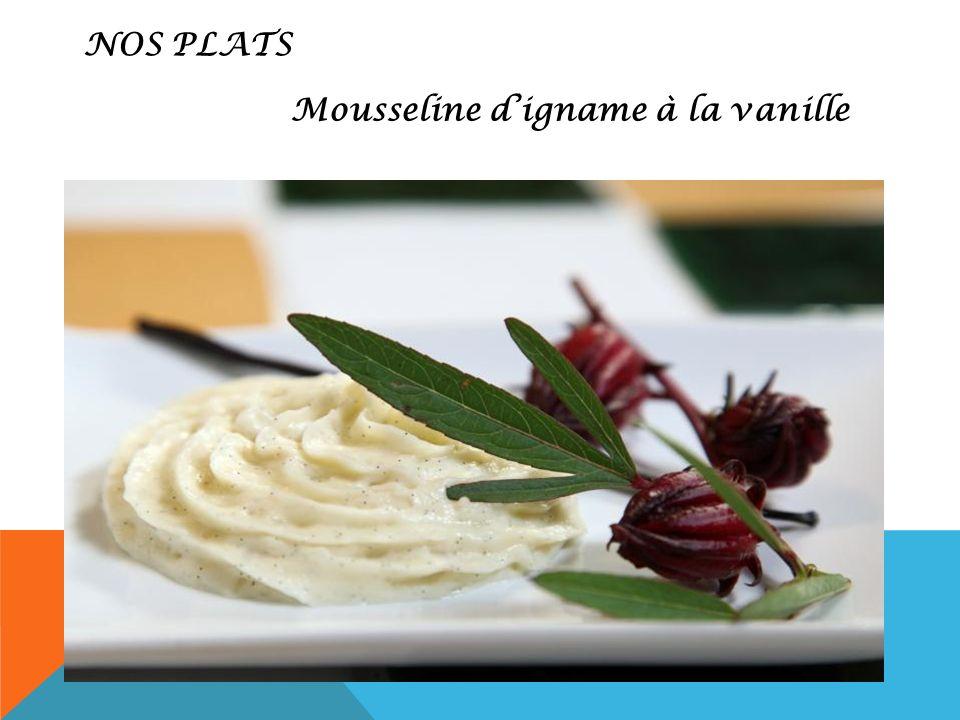 Mousseline d'igname à la vanille