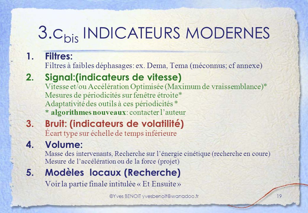 3.cbis INDICATEURS MODERNES