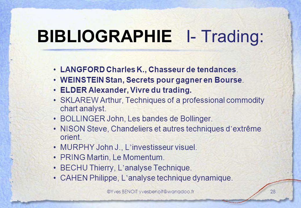 BIBLIOGRAPHIE I- Trading: