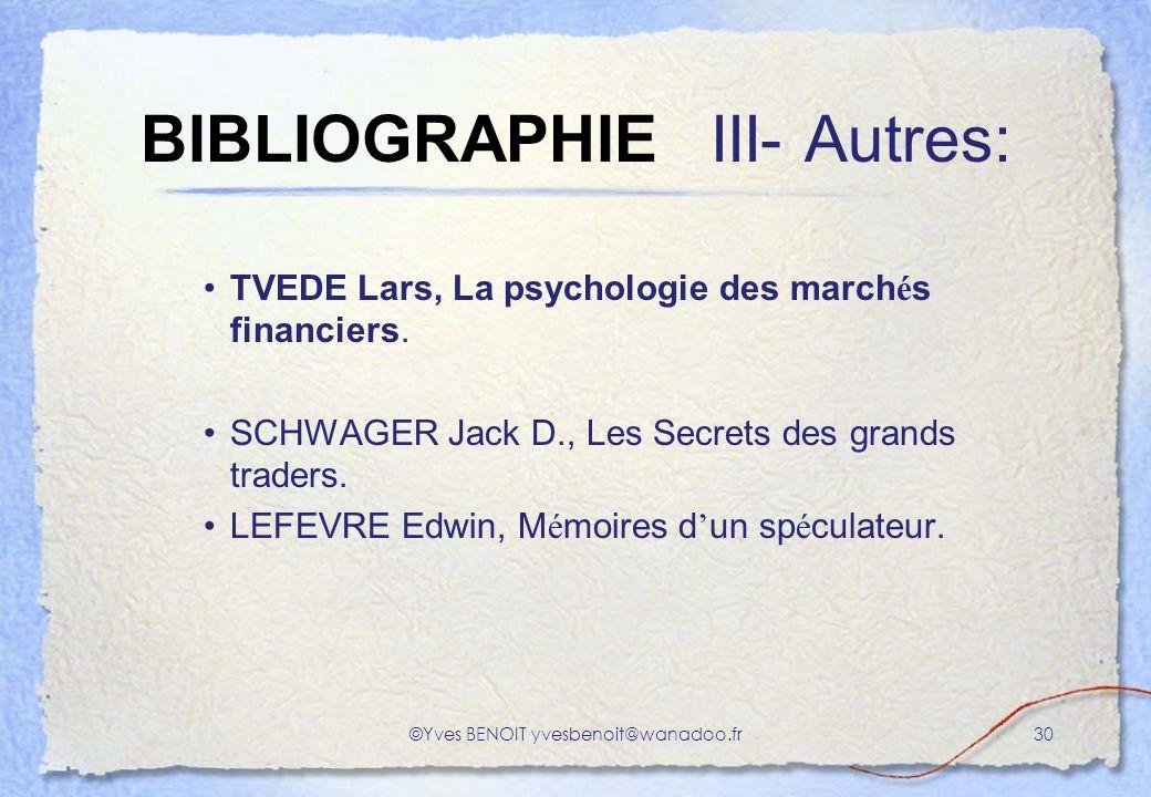 BIBLIOGRAPHIE III- Autres:
