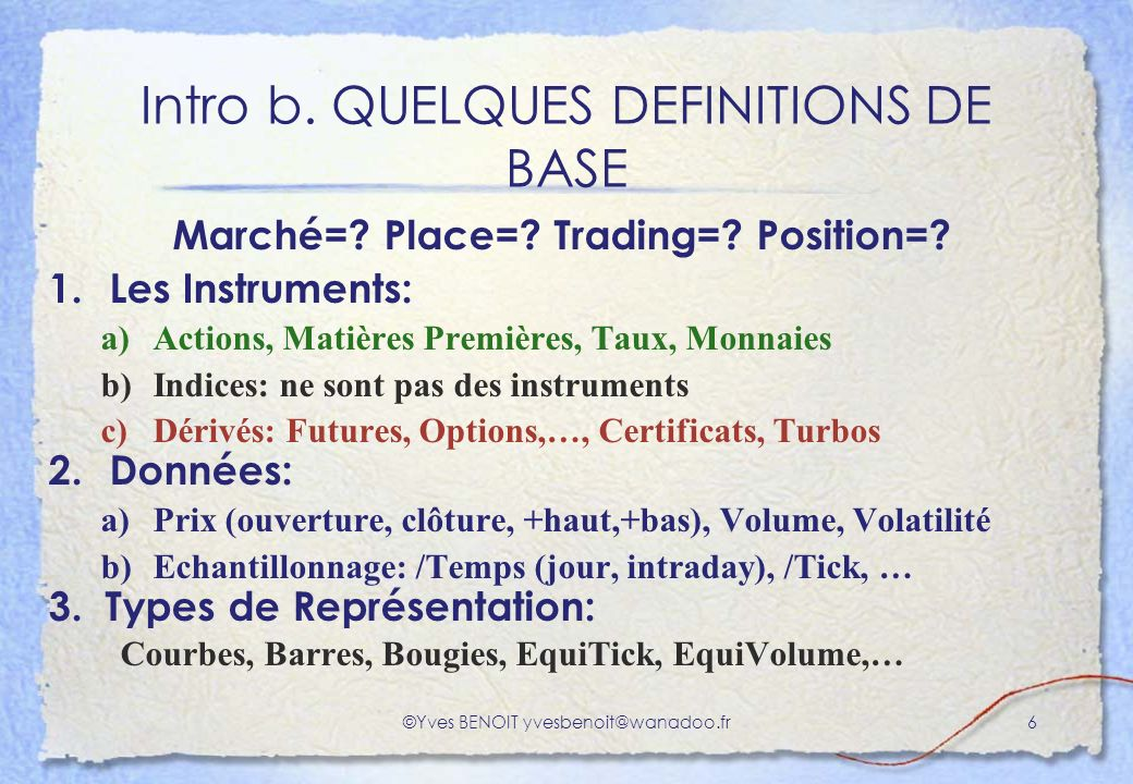 Intro b. QUELQUES DEFINITIONS DE BASE