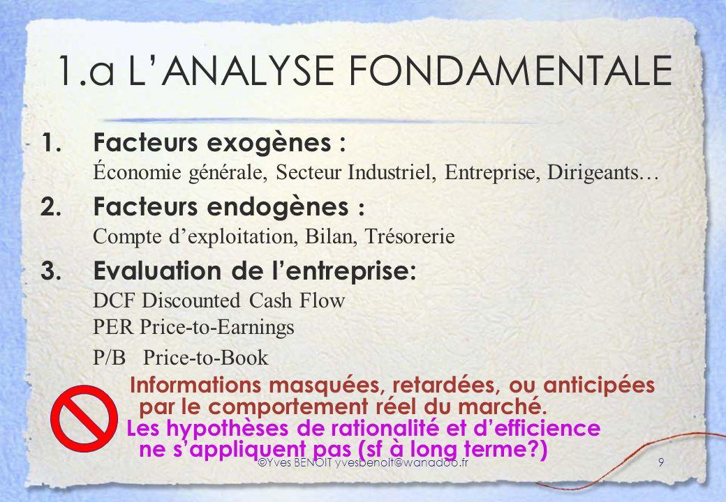 1.a L'ANALYSE FONDAMENTALE