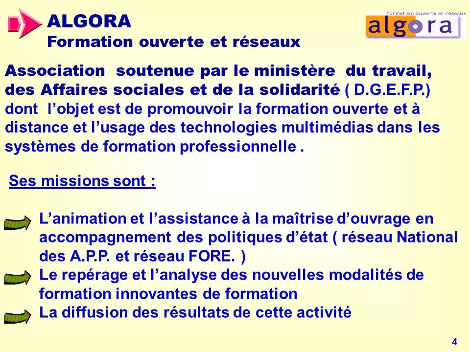 ALGORA Formation ouverte et réseaux