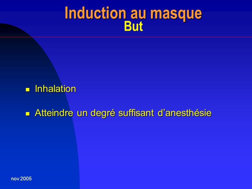 Induction au masque But