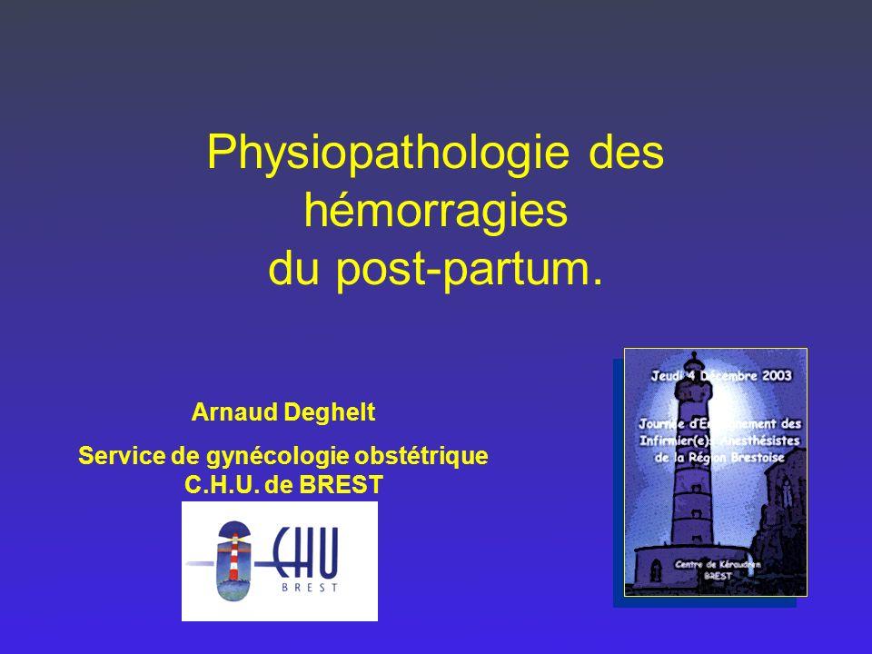 Service de gynécologie obstétrique C.H.U. de BREST