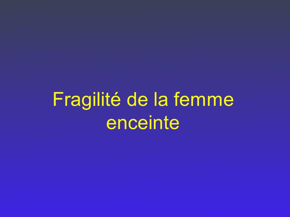 Fragilité de la femme enceinte