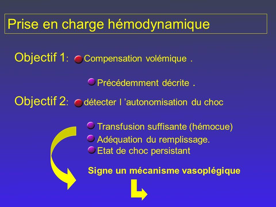 Prise en charge hémodynamique