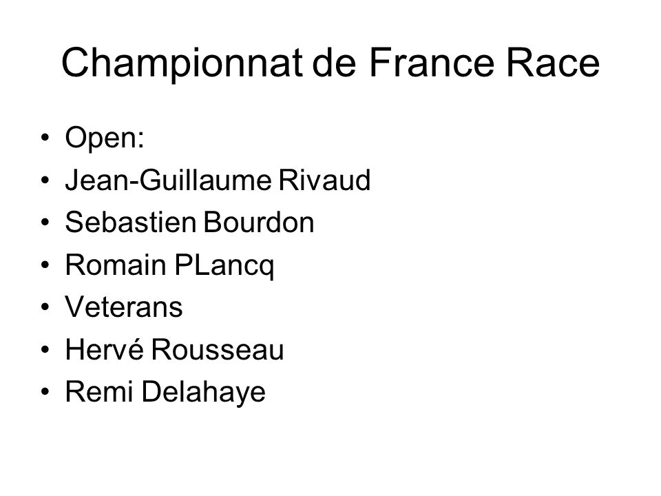Championnat de France Race