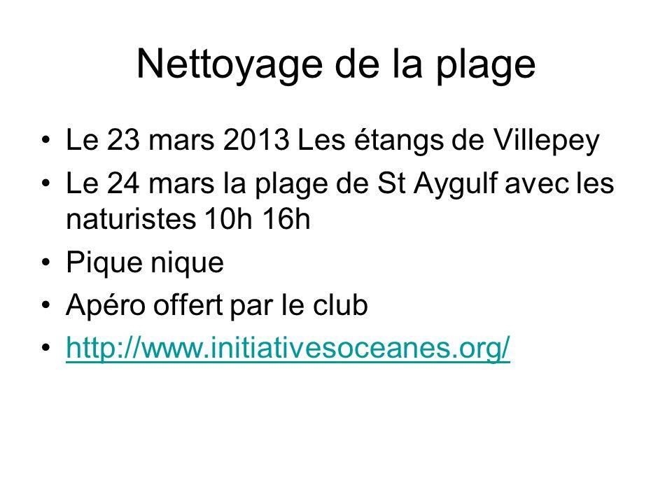 Nettoyage de la plage Le 23 mars 2013 Les étangs de Villepey