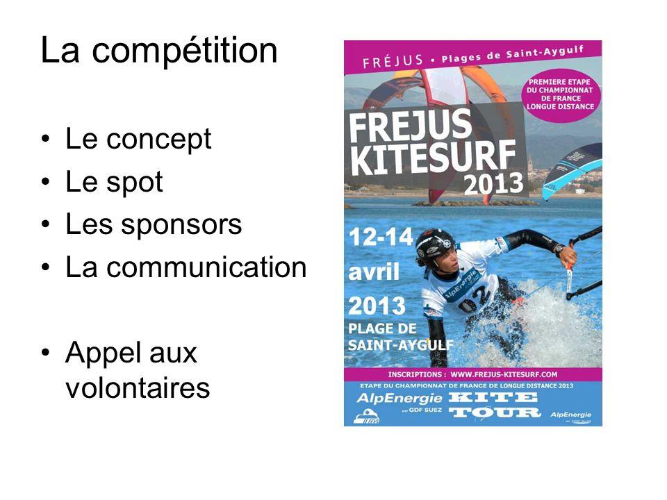 La compétition Le concept Le spot Les sponsors La communication
