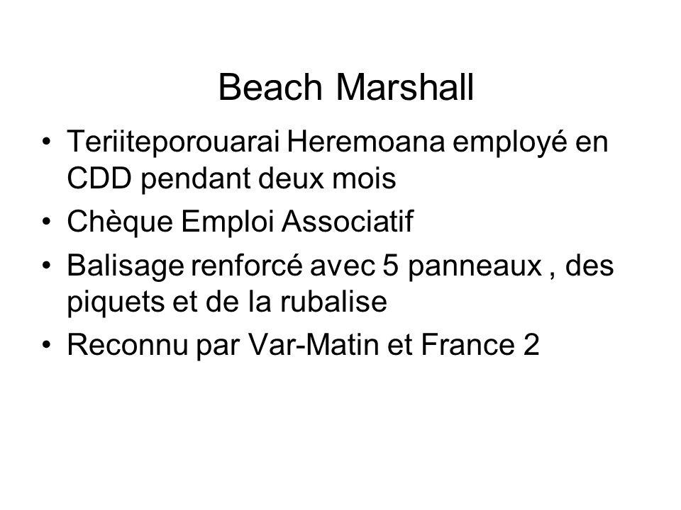 Beach Marshall Teriiteporouarai Heremoana employé en CDD pendant deux mois. Chèque Emploi Associatif.