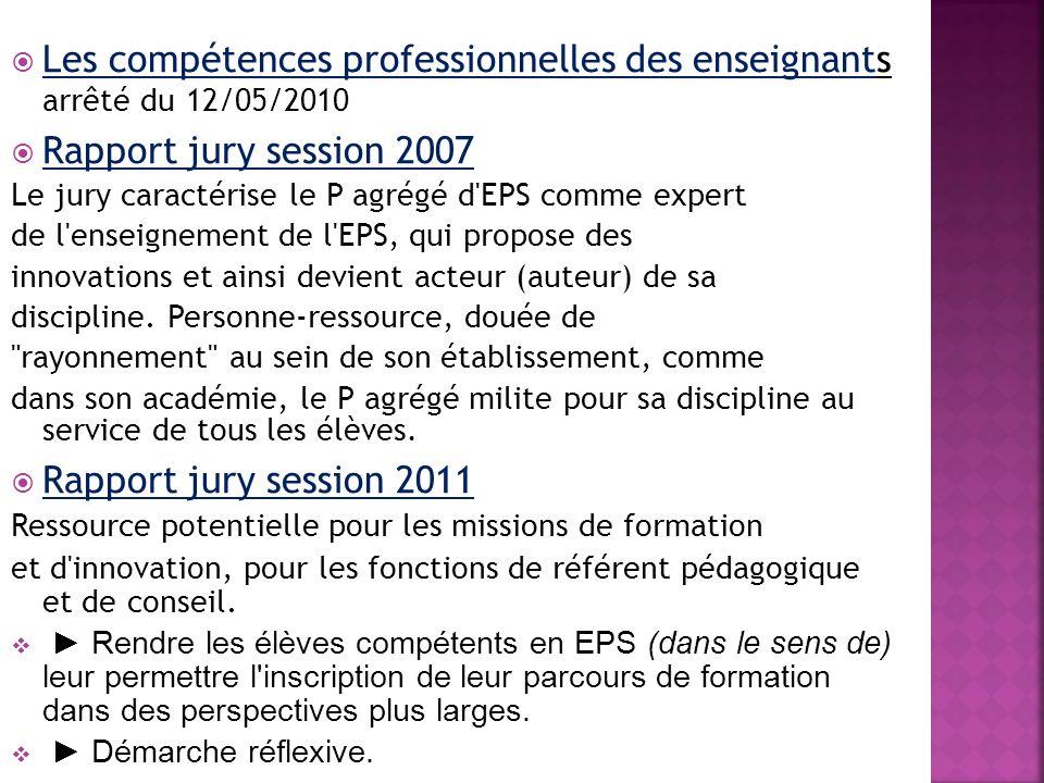 Les compétences professionnelles des enseignants arrêté du 12/05/2010