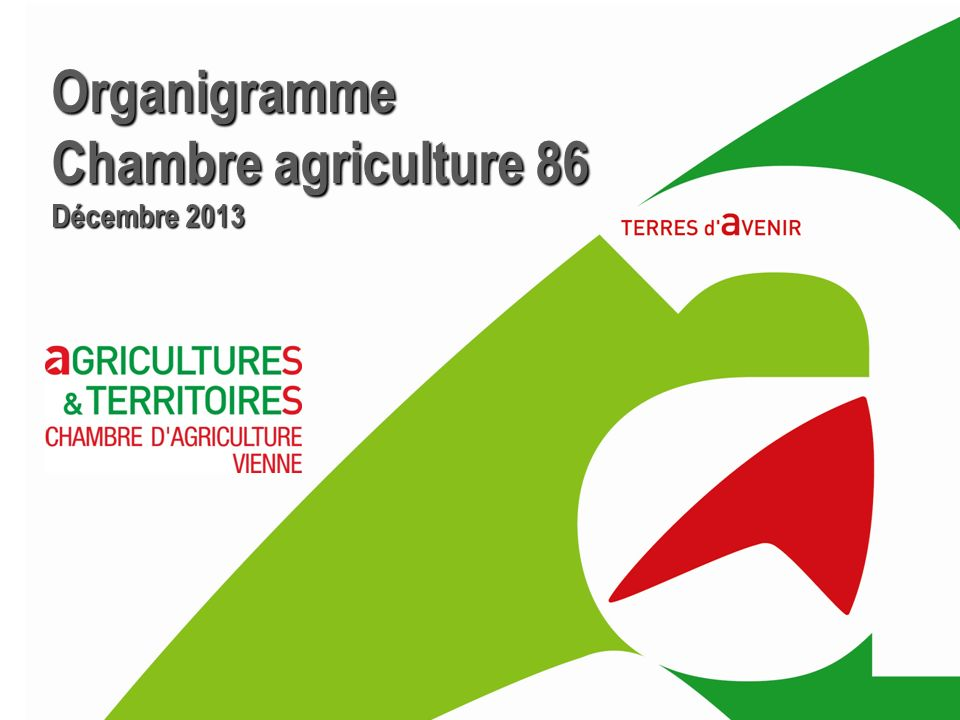 Organigramme Chambre agriculture 86