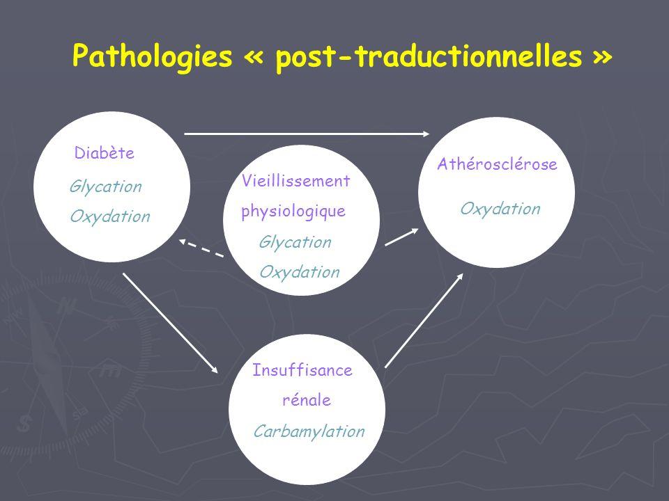 Pathologies « post-traductionnelles »