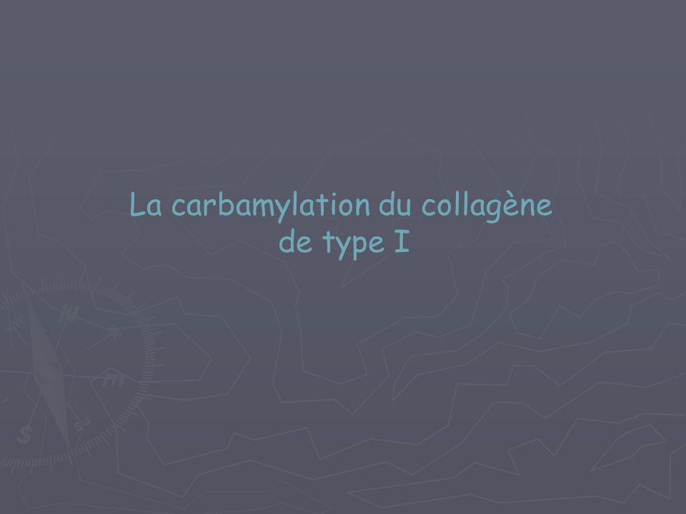 La carbamylation du collagène