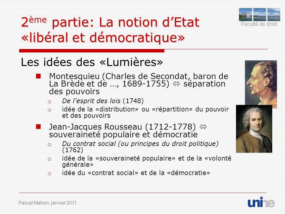 2ème partie: La notion d'Etat «libéral et démocratique»