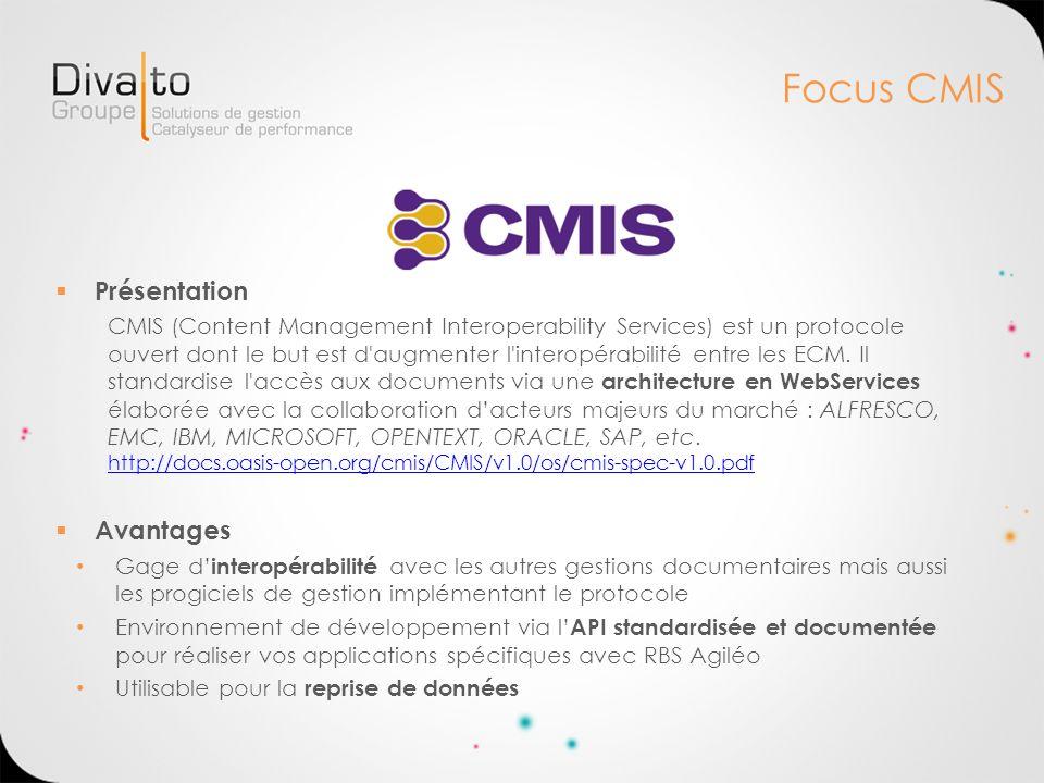 Focus CMIS Présentation Avantages
