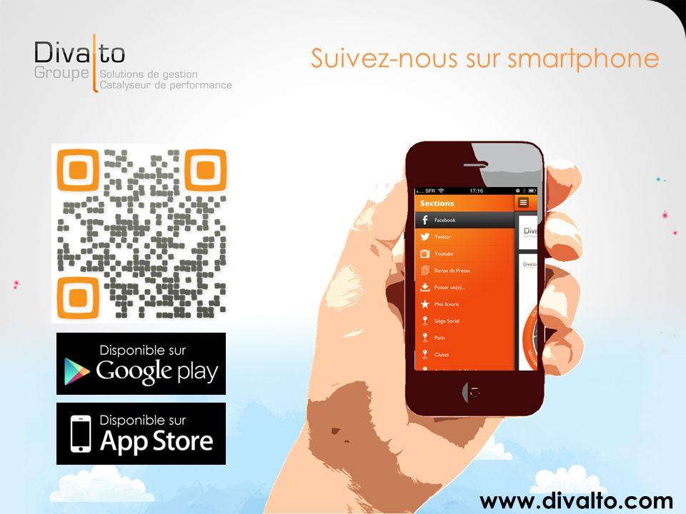 Suivez-nous sur smartphone