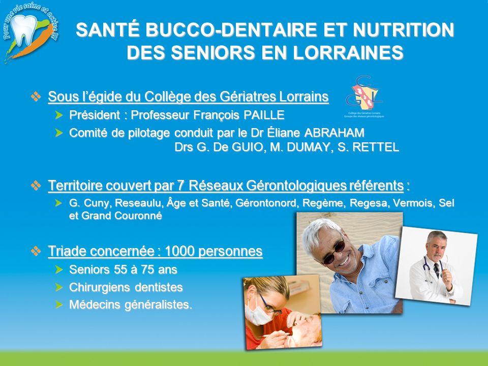 SANTÉ BUCCO-DENTAIRE ET NUTRITION DES SENIORS EN LORRAINES