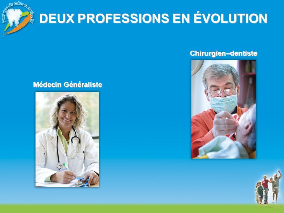 DEUX PROFESSIONS EN ÉVOLUTION