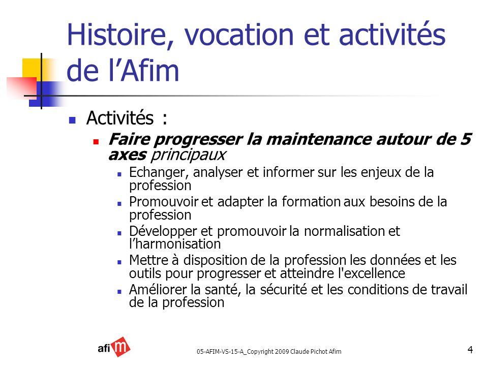 Histoire, vocation et activités de l'Afim