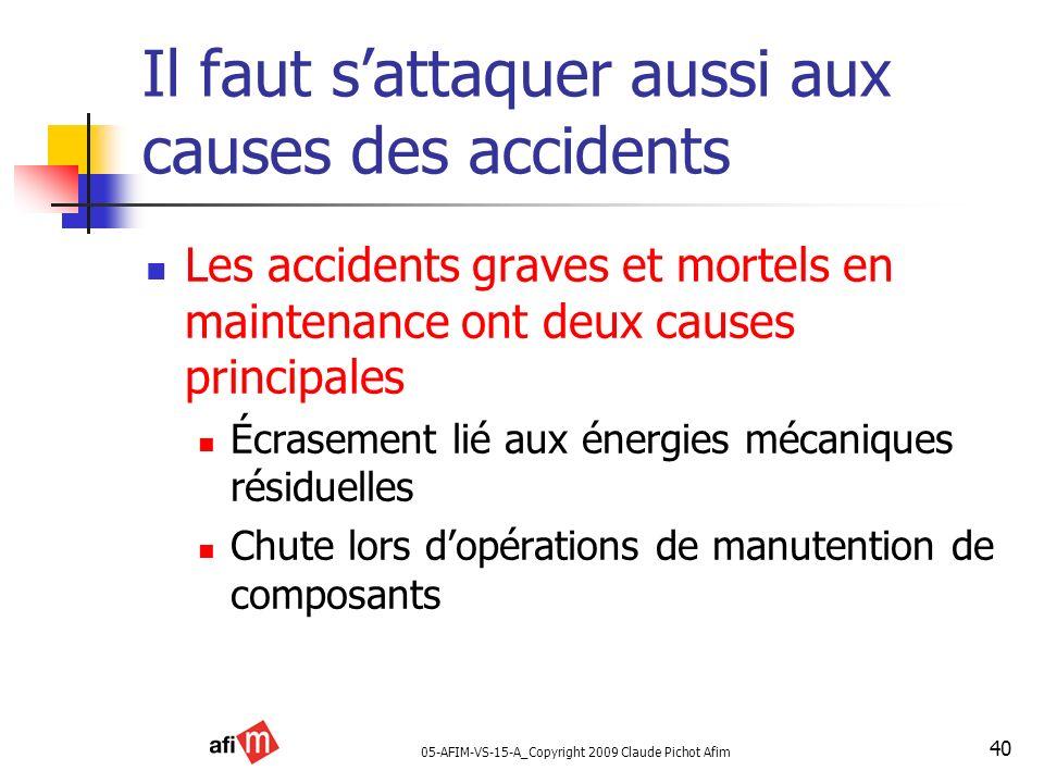 Il faut s'attaquer aussi aux causes des accidents