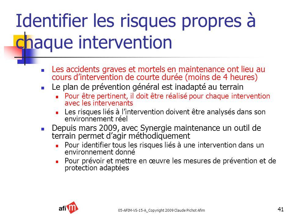 Identifier les risques propres à chaque intervention