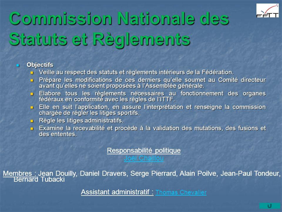 Commission Nationale des Statuts et Règlements