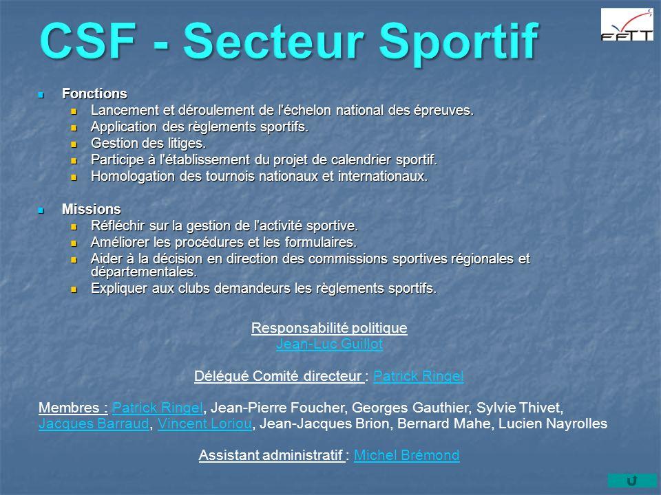 CSF - Secteur Sportif Responsabilité politique Jean-Luc Guillot