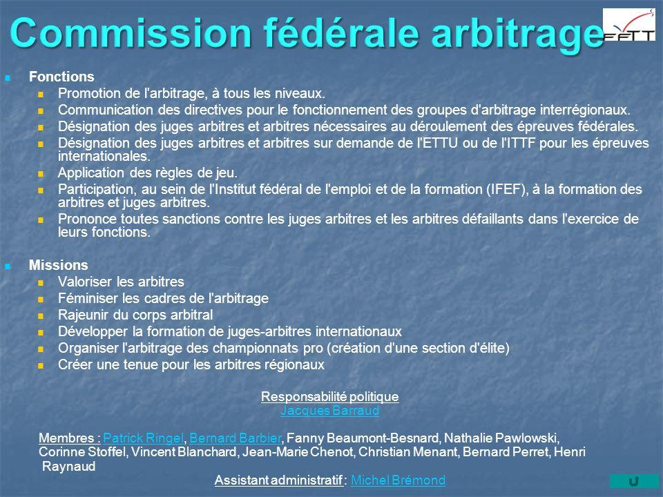 Commission fédérale arbitrage