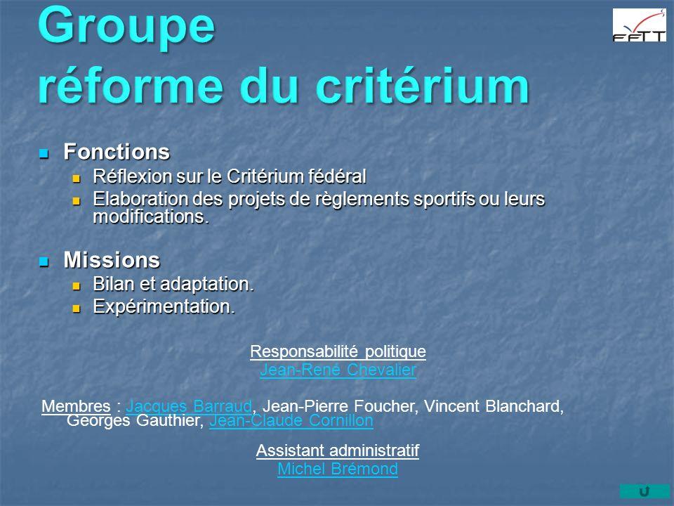 Groupe réforme du critérium