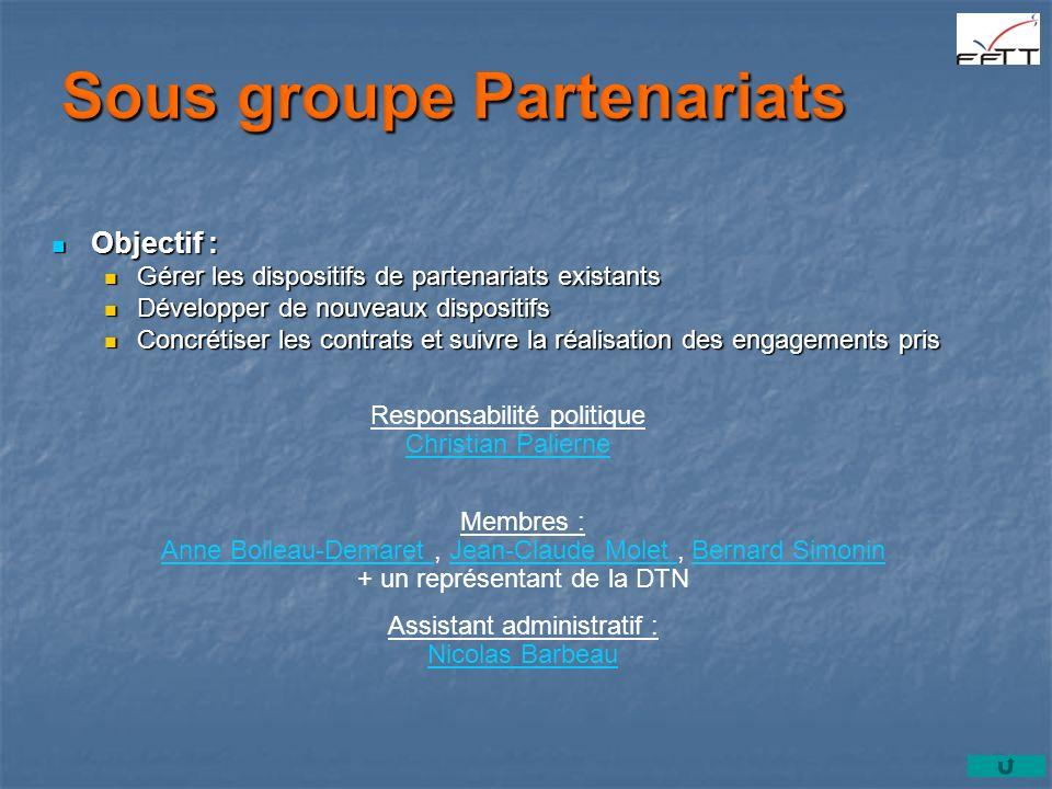 Sous groupe Partenariats