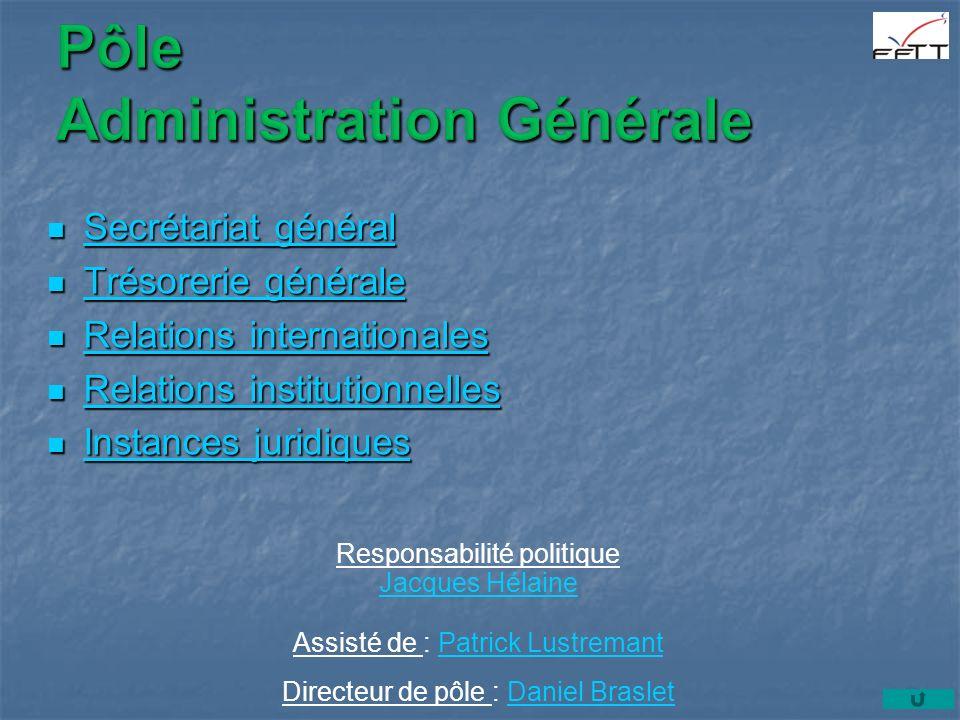 Pôle Administration Générale