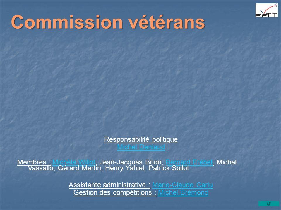 Commission vétérans Responsabilité politique Michel Deniaud