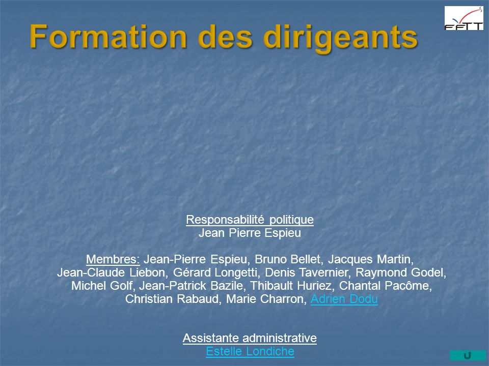 Formation des dirigeants