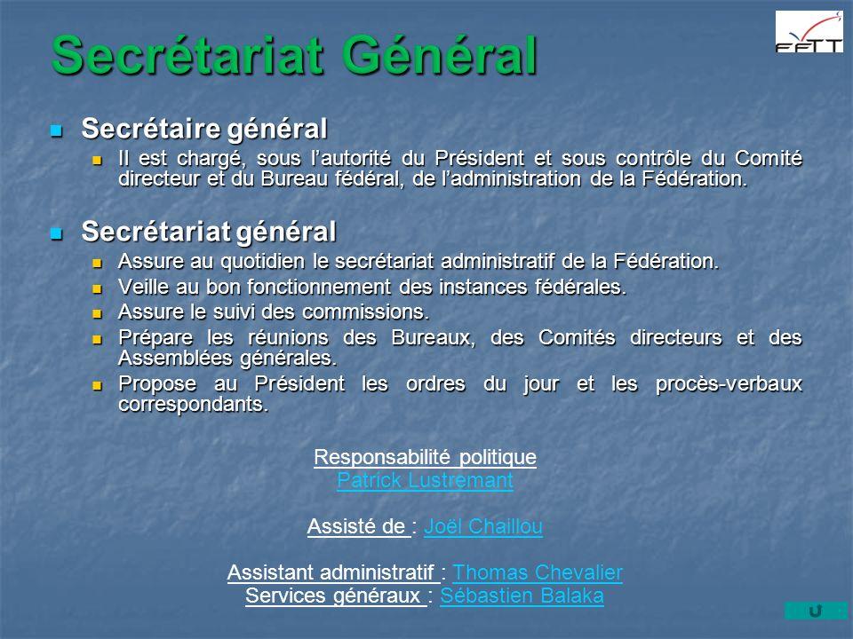 Secrétariat Général Secrétaire général Secrétariat général