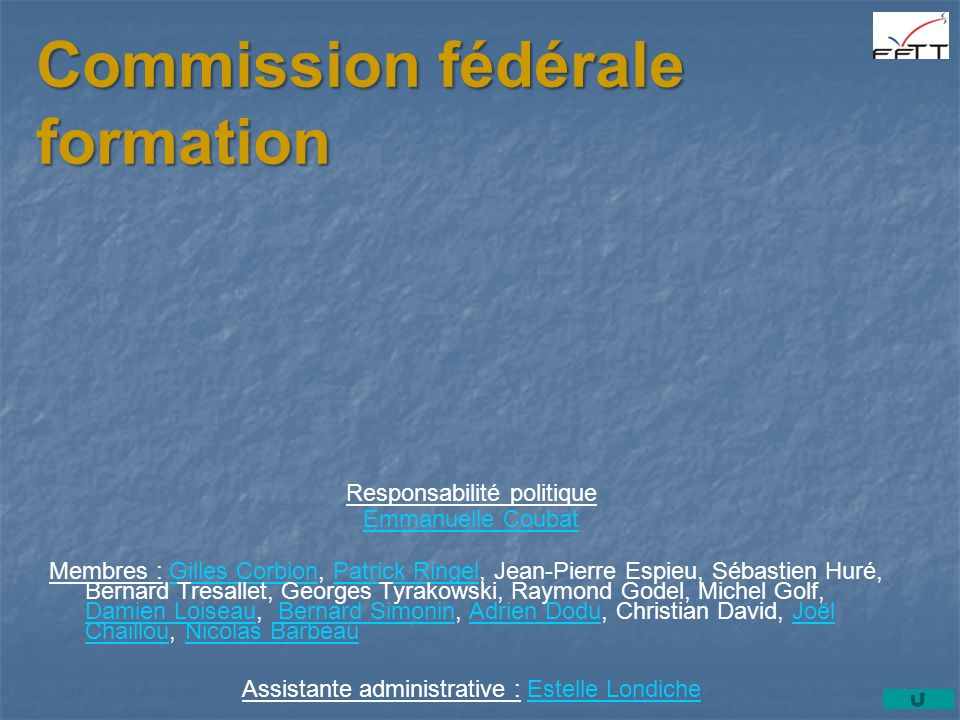 Commission fédérale formation