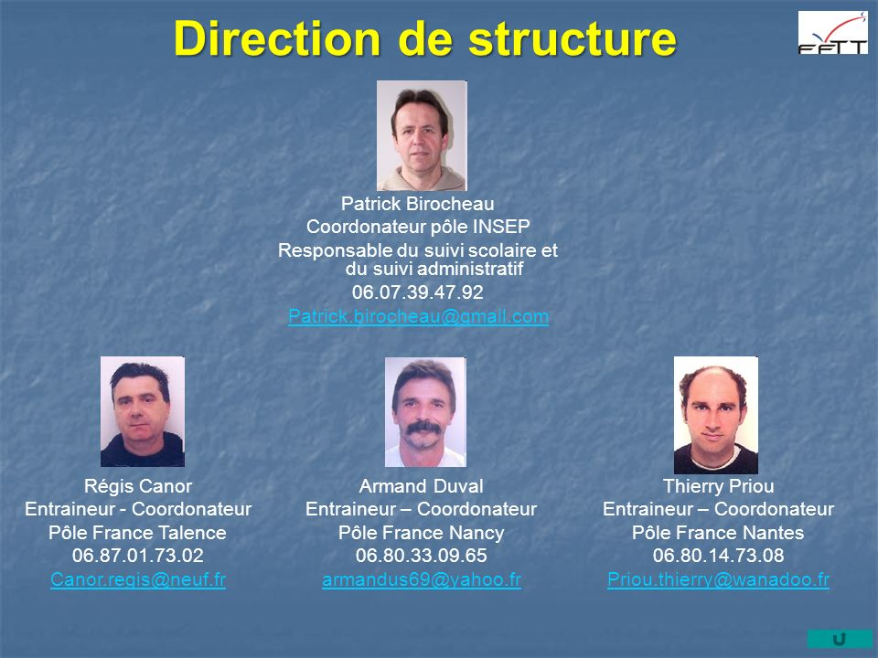 Direction de structure