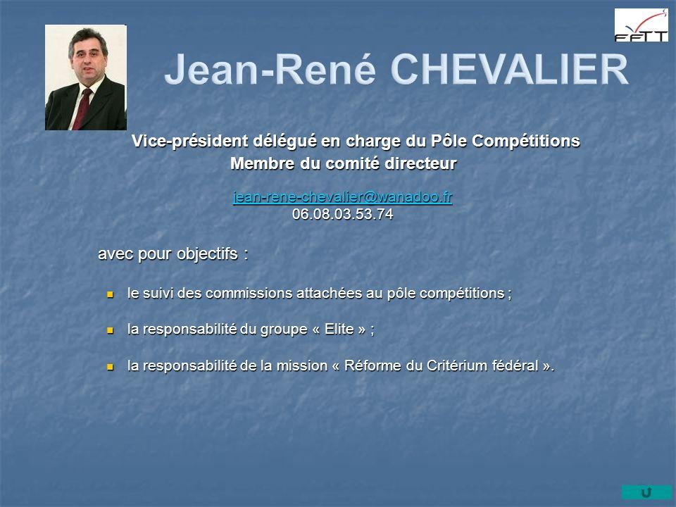 Vice-président délégué en charge du Pôle Compétitions