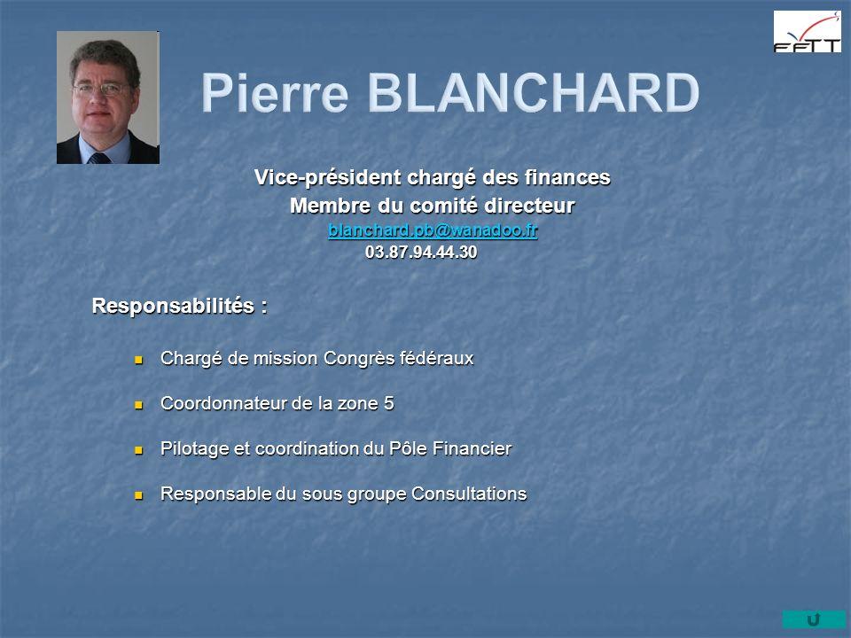 Vice-président chargé des finances Membre du comité directeur