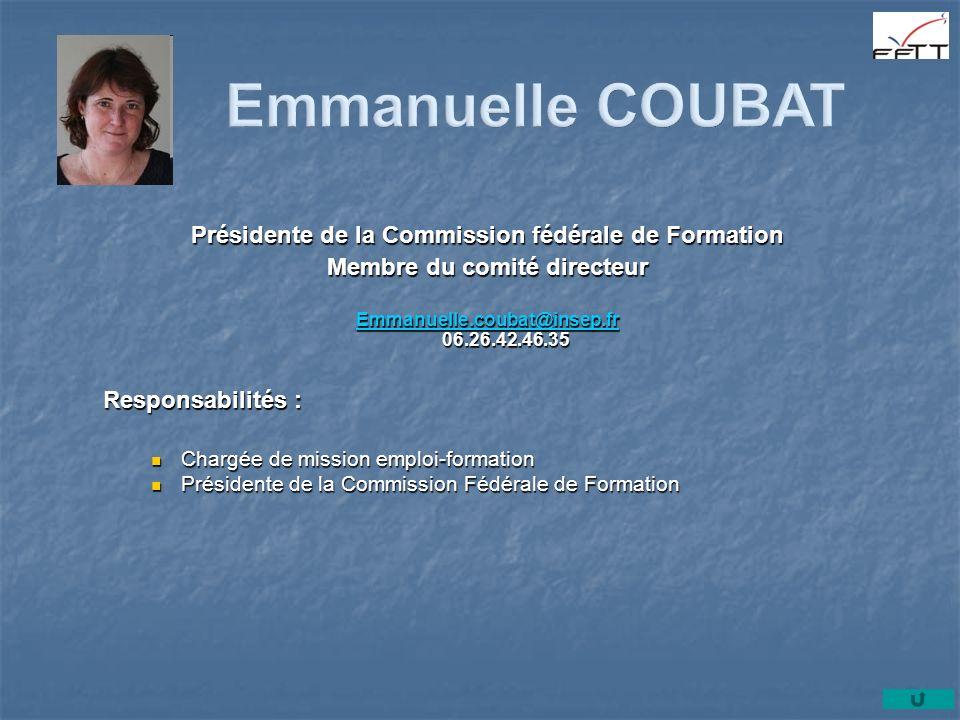 Emmanuelle COUBAT Présidente de la Commission fédérale de Formation