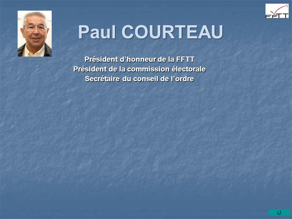 Paul COURTEAU Président d'honneur de la FFTT