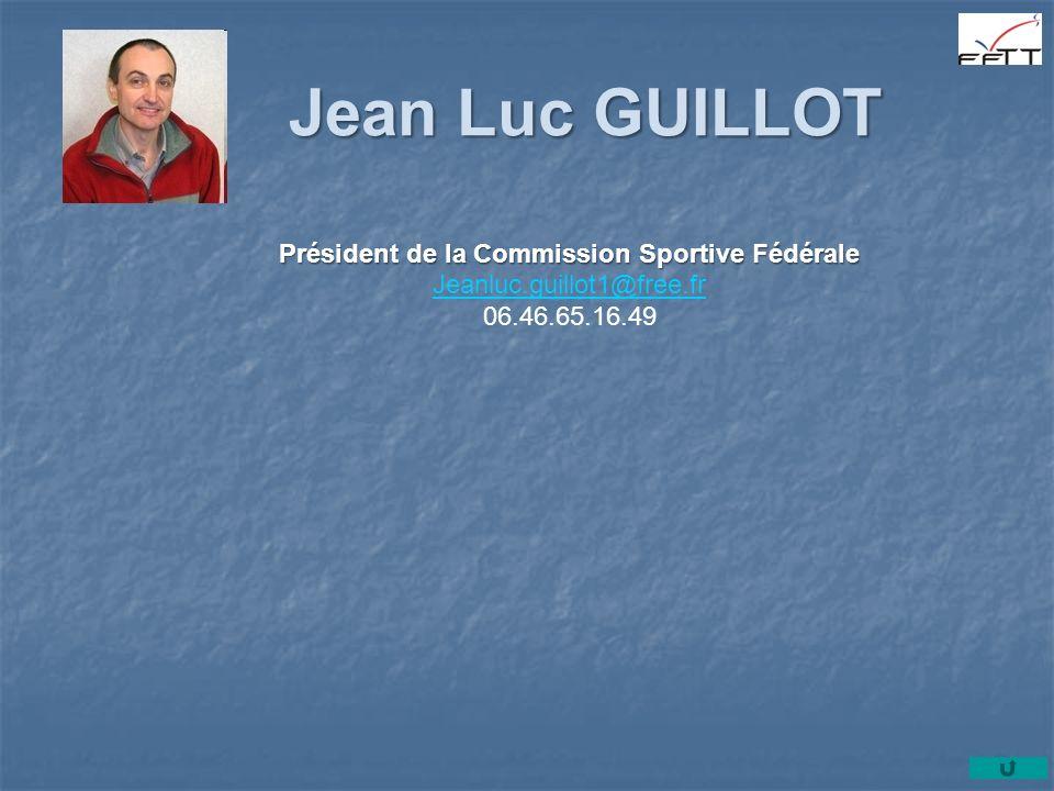Président de la Commission Sportive Fédérale