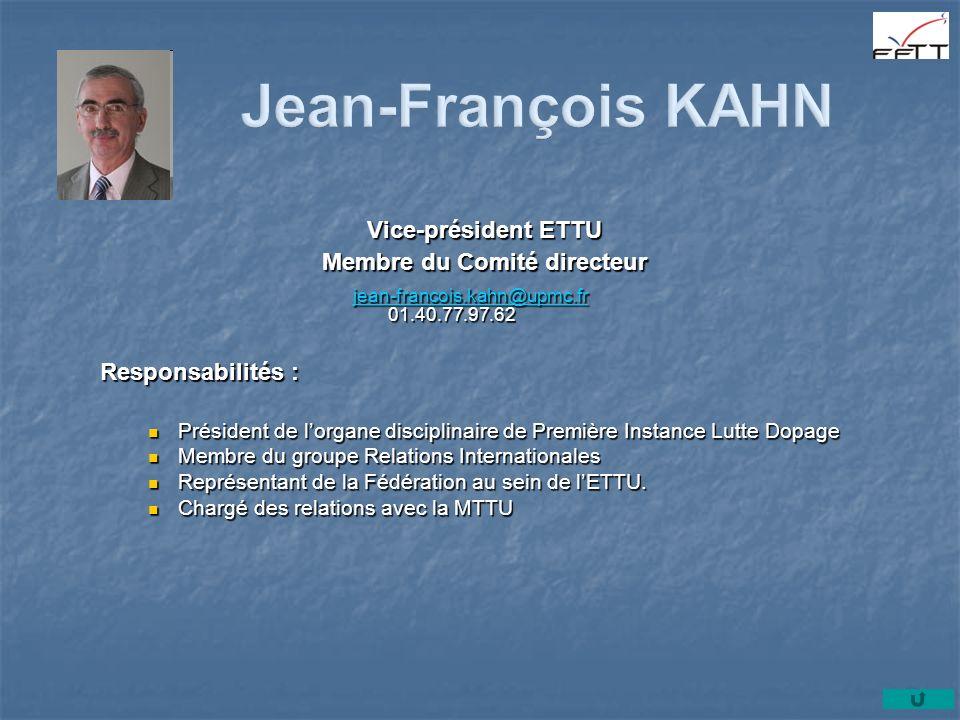 Membre du Comité directeur