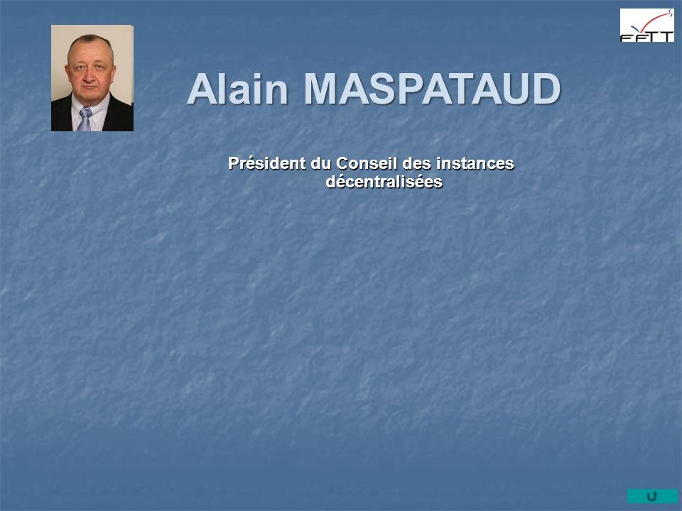Président du Conseil des instances décentralisées