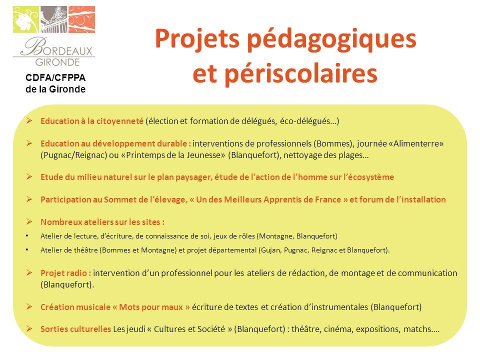 Projets pédagogiques et périscolaires