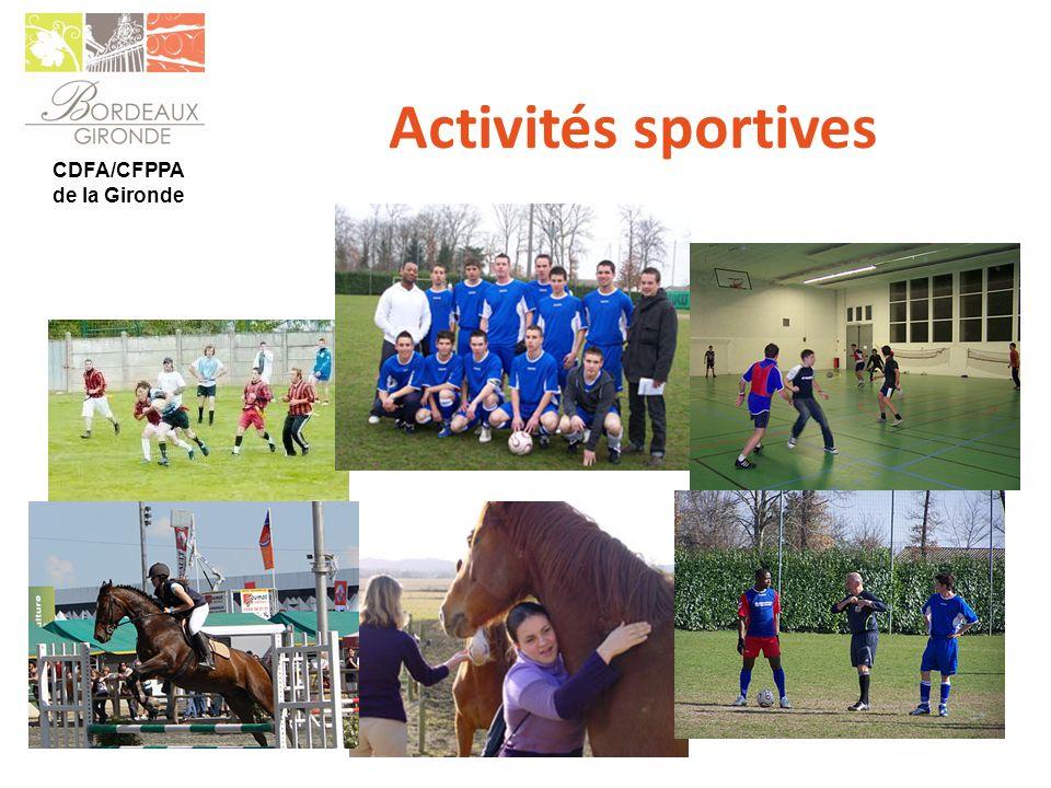 Activités sportives CDFA/CFPPA de la Gironde