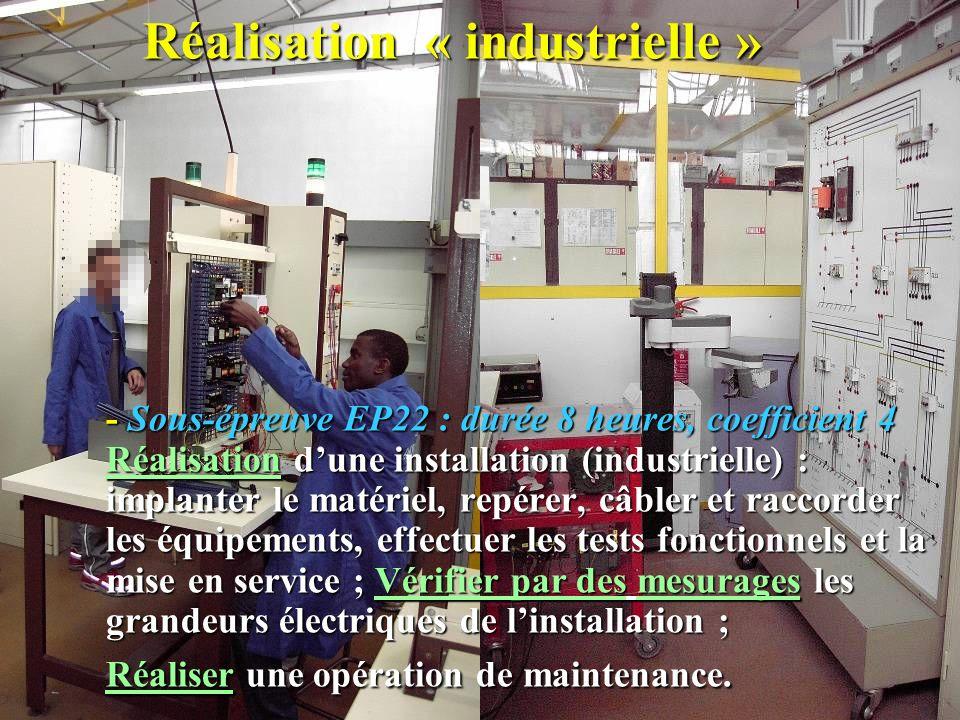 Réalisation « industrielle »