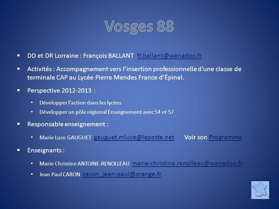 Vosges 88 DD et DR Lorraine : François BALLANT fr.ballant@wanadoo.fr