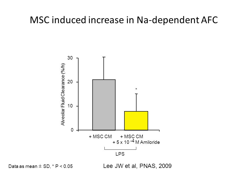 MSC induced increase in Na-dependent AFC